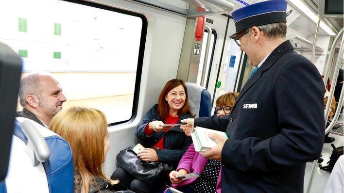 La línea de tren desde Palma a Sa Pobla estrena electrificación