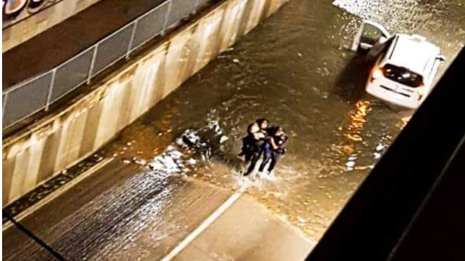 155 incidentes en Baleares por el temporal de lluvias y viento