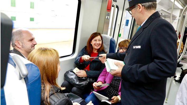 Retrasos en hora punta en el nuevo tren eléctrico de Sa Pobla