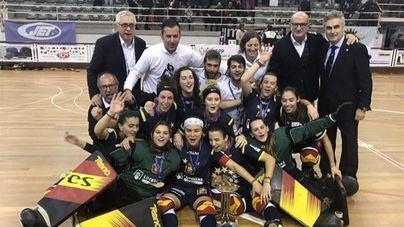 La selección femenina de hockey patines, campeona de Europa