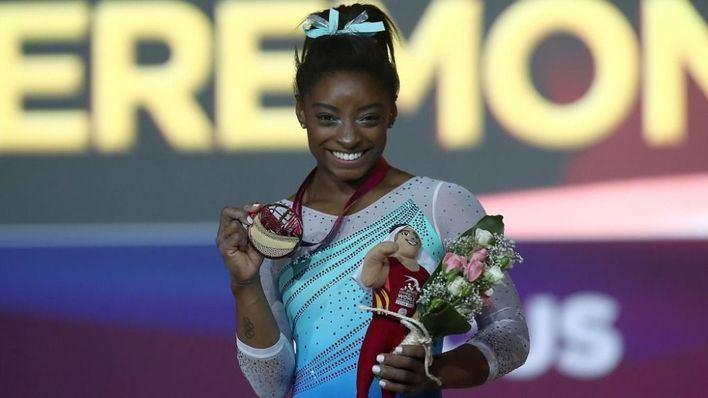 Simone Biles hace historia consiguiendo su cuarto oro mundial en Doha