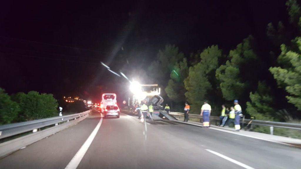 Ciudadanos considera peligrosas las obras del nuevo asfalto de la autovía de Andratx en Bendinat