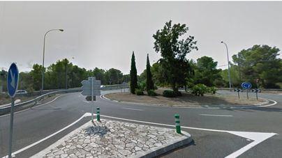 Fallece un motorista en la rotonda de Cala Blava a s'Arenal