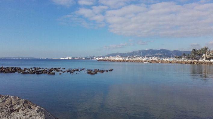 Nubes y vientos fuertes en Mallorca