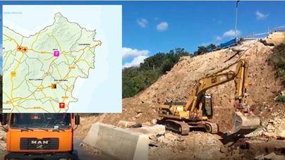 La carretera de Son Serra a la Colònia es la más afectada