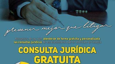 El Colegio de Abogados de Baleares ofrecerá consultas gratuitas