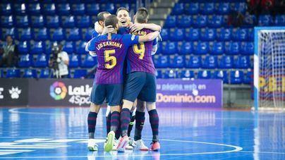 El Barça arrasa 8-1 al Palma Futsal que pierde el liderato