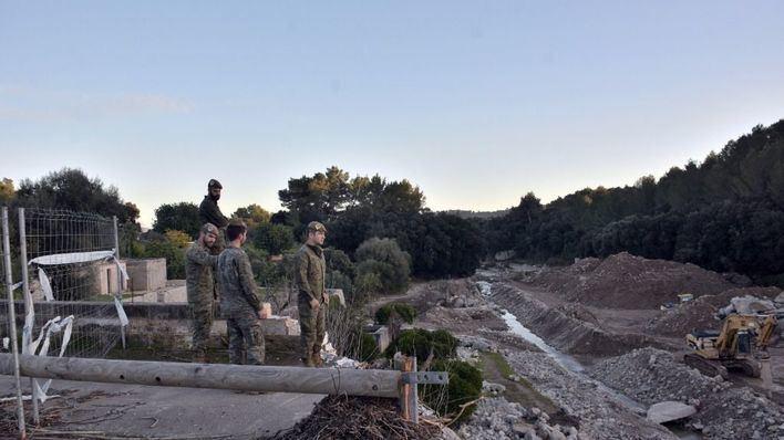 Defensa da luz verde al puente militar provisional en la carretera de Artà afectada por las riadas
