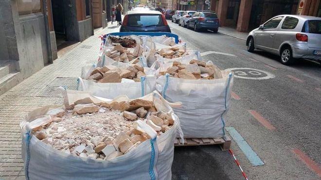 Una empresa pirata de Palma vierte 30 toneladas de escombros al mes