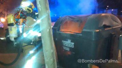 2 nuevos incendios provocados en Palma elevan a 6 los contenedores quemados en menos de 24 horas