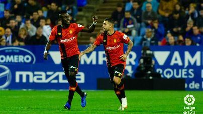 El Mallorca empata a 2 en el campo del Zaragoza