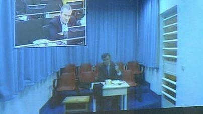 Imagen de la comparecencia por videoconferencia desde la cárcel
