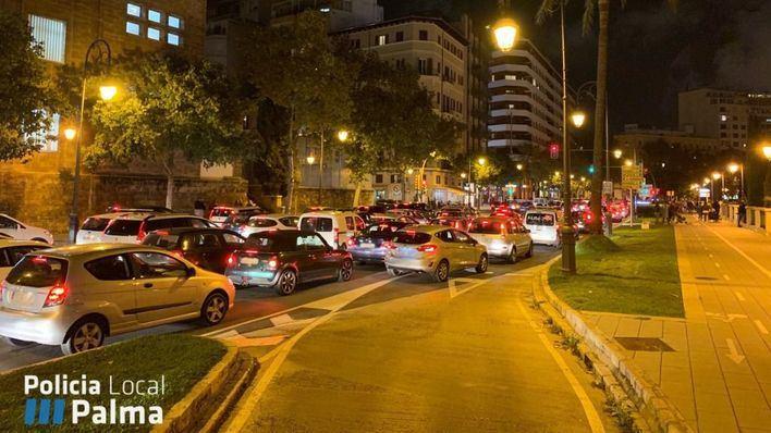 El encendido de luces obliga a cortar seis calles y dos plazas de Palma