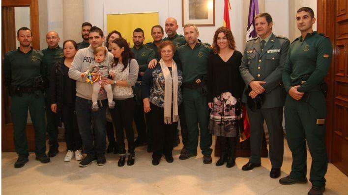 Los afectados de Sant Llorenç rescatados de las inundaciones agradecen a los GEAS su labor