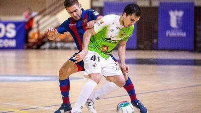 Los palos evitan la victoria del Palma Futsal contra el Levante