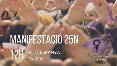 El Movimiento Feminista de Mallorca convoca una manifestación con motivo del 25N