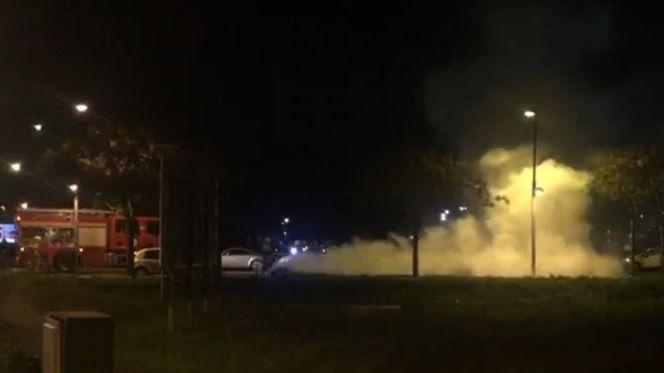 Arden cuatro contenedores junto al Fan Mallorca