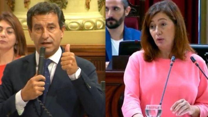 Company y Armengol en el Parlament Balear