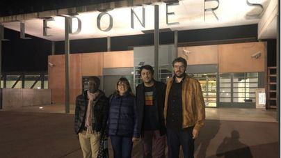 La delegación de Més al salir de la prisión