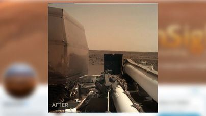 La nave InSight ya se ejercita sobre Marte