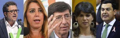 Debacle del PSOE y mayoría de PP, Cs y Vox en las elecciones de Andalucía