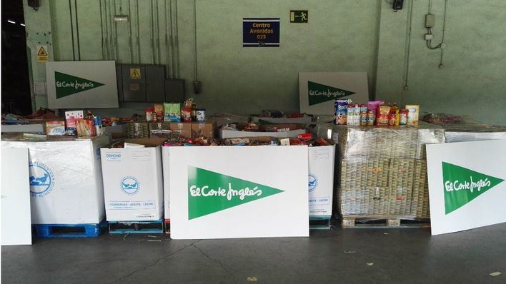 El Corte Inglés recoge 11 toneladas de comida para el Banco de Alimentos