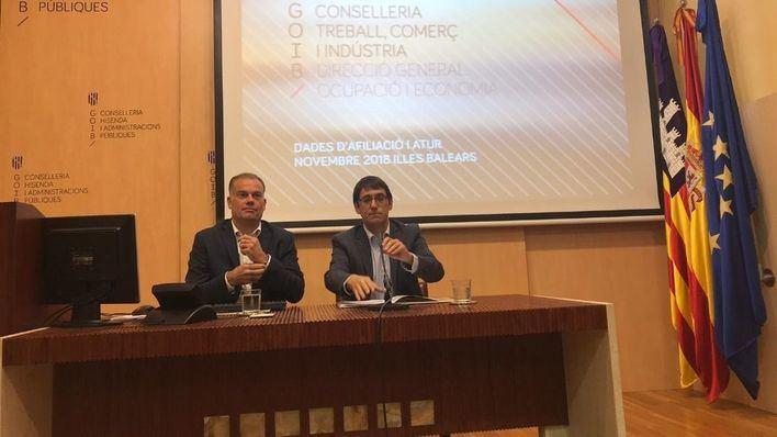El Govern tilda de 'histórico' este noviembre por las cifras de nuevos afiliados a pesar de la 'estacionalidad'