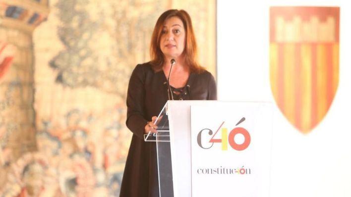 """Armengol advierte: """"retrasar la reforma constitucional amenaza la convivencia"""""""