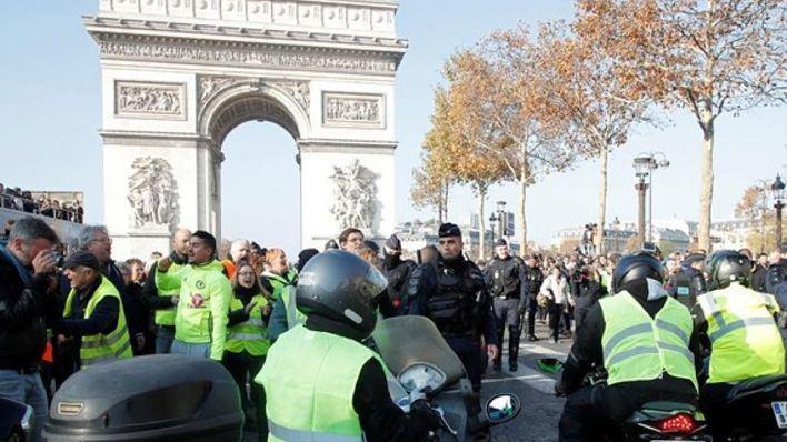 Al menos 278 arrestos en París para impedir actos violentos en las protestas