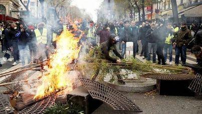 Ascienden a 1.723 los arrestos en las protestas de los 'chalecos amarillos'