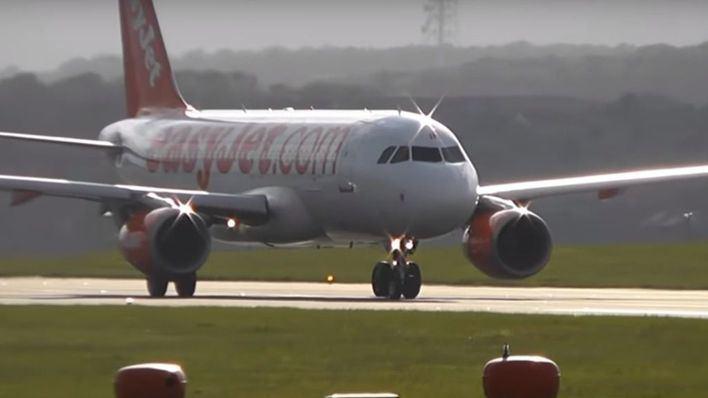 Aterrizaje de emergencia en Palma: un ave deja inutilizado a un avión de EasyJet que iba a Londres