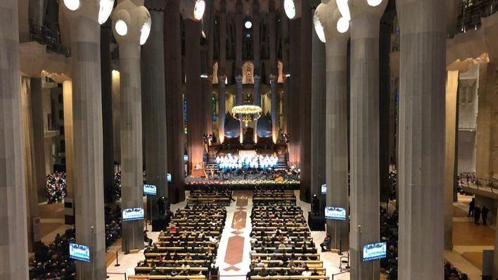 La Escolanía de Lluc canta en el Concierto de Navidad de la Sagrada Familia