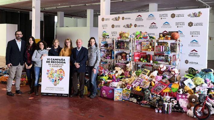 ASIMA recoge más de 6,5 toneladas de alimentos y más de 1.000 juguetes para seis ONG's