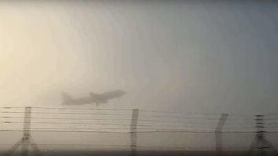 Desviados tres vuelos por la niebla en el Aeropuerto de Palma