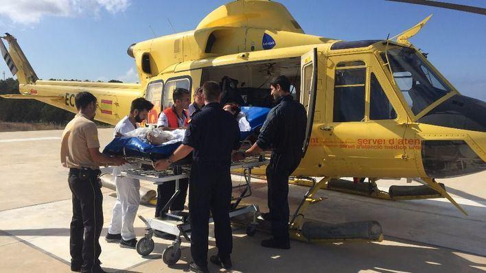 Evacuan en avión a Son Espases a un hombre con lesión cerebral tras una reyerta en Ibiza