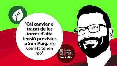 Imagen difundida por Hila cuando apoyaba a los vecinos de Son Puig