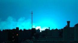 Espectaculares imágenes del cielo de Nueva York teñido de azul