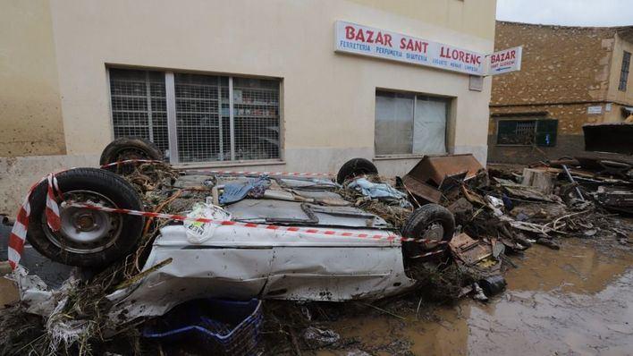 Imagen de Sant Llorenç un día después de las inundaciones