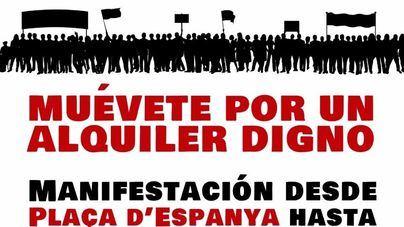 Cuatro entidades convocan para este sábado en Palma la manifestación 'Muévete por un alquiler digno'