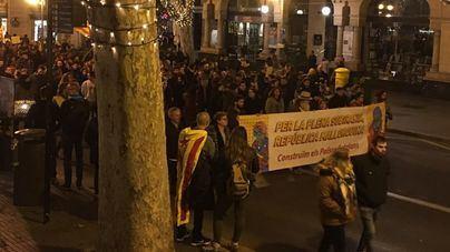 Unos 1.500 soberanistas se manifiestan en el centro de Palma por la Diada de Mallorca
