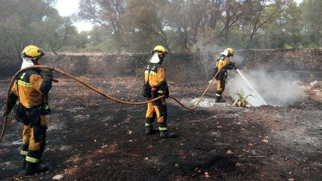 2018, el año con menos hectáreas quemadas en incendios forestales en una década en Baleares