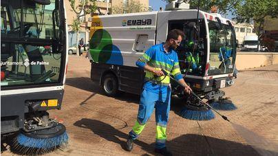 Emaya recoge 20 toneladas de basura de los palmesanos que han celebrado la Nochevieja