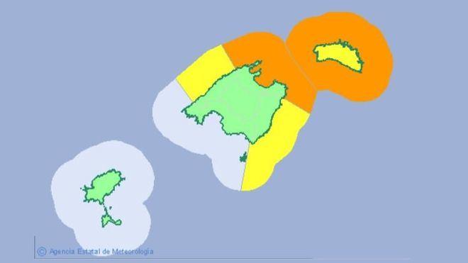 Alerta naranja en el norte de Mallorca por viento y mala mar