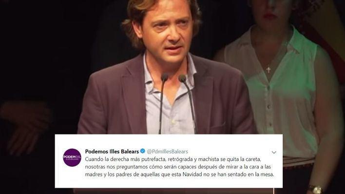 """Podemos de Baleares arremete contra Vox: """"la derecha más putrefacta, retrógrada y machista"""""""
