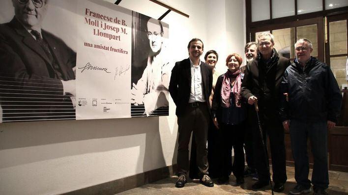 Cort inagura la exposición 'Francesc de B. Moll i Josep M. Llompart. Una amistat fructífera'