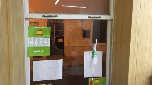 Apedrean la sede de Vox Menorca por segunda vez en una semana