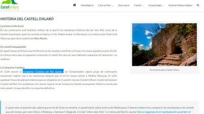 Jaume III pide a Alaró que quite de la web del castillo 'conquista catalana'