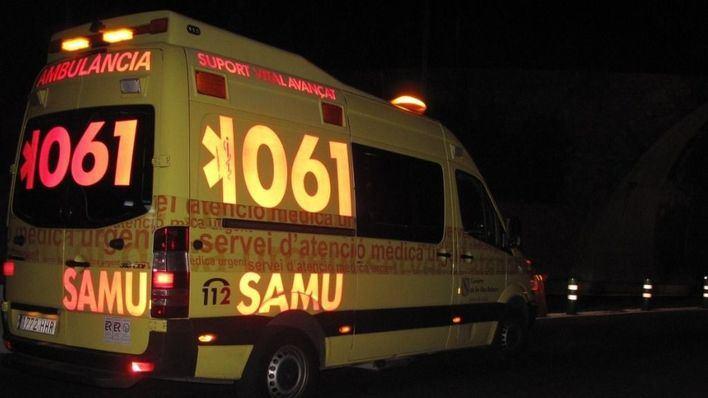 Dos heridos graves en un choque en la carretera Campos-Llucmajor