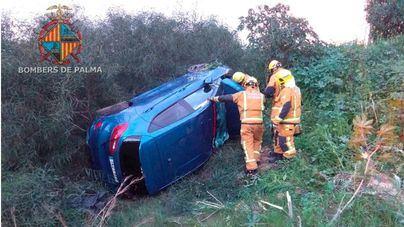 Una hora de retenciones kilométricas por dos accidentes en la autopista de Inca