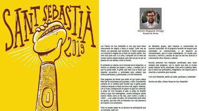 Cort publica el programa de Sant Sebastià en castellano con 18 páginas plagadas de faltas